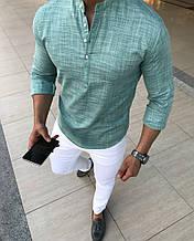 Рубашка мужская хлопковая слим фит