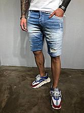 Мужские джинсовые шорты летние синие(Размер 31,32,33)