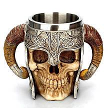 Кружка Чашка Келих Вікінг Воїн Сатана 3D Нержавіюча Сталь