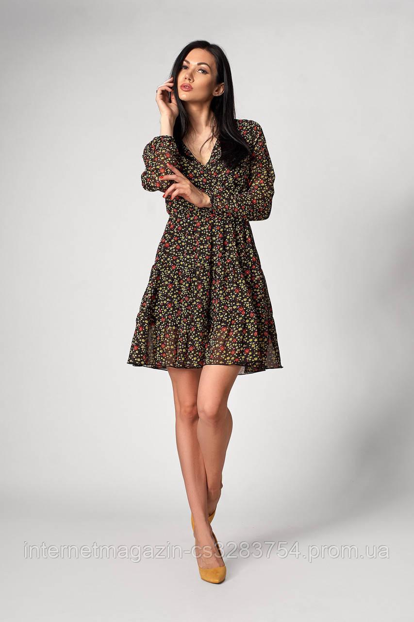 Платье SL-FASHION 1250.1 48 Черный (SLF-1250.1-4)