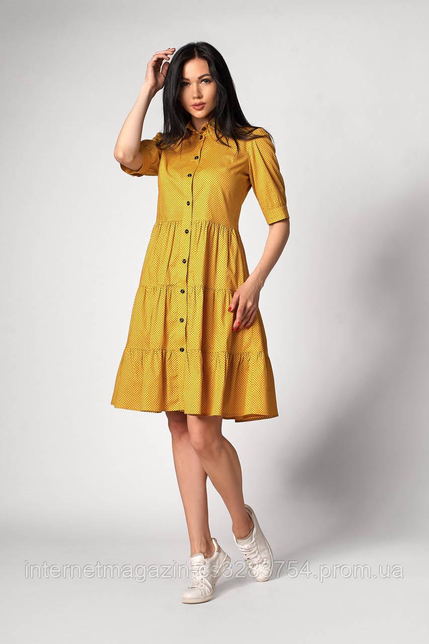 Платье SL-FASHION 1252.1 46 Желтый (SLF-1252.1-3)