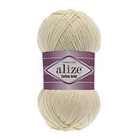 Пряжа Alize Cotton Gold 01 молоко