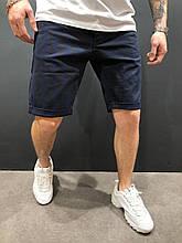 Мужские джинсовые шорты летние черные