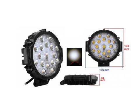 Светодиодная фара AllLight 51W-Black 9-30V spot 17 chip OSRAM