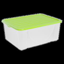 Ящик пластиковий для зберігання речей з кришкою Алеана 9.6л