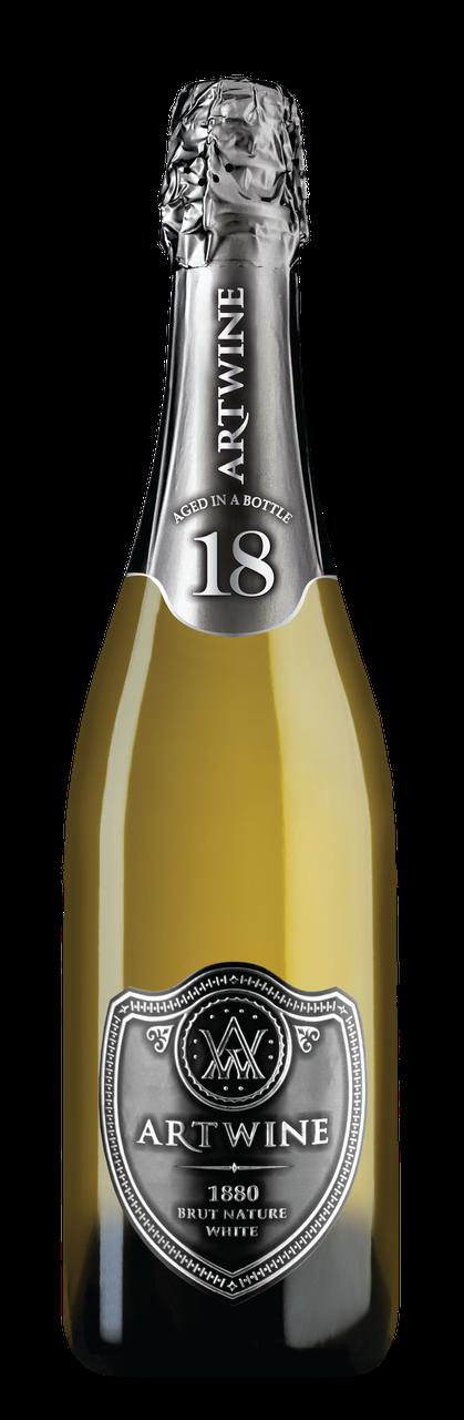 ARTWINE біле брют натюр вино ігристе витримане 18 місяців