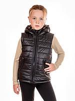 Детский жилет с капюшоном IRVIC DK801 134 Черный (IrC-DK801-2)