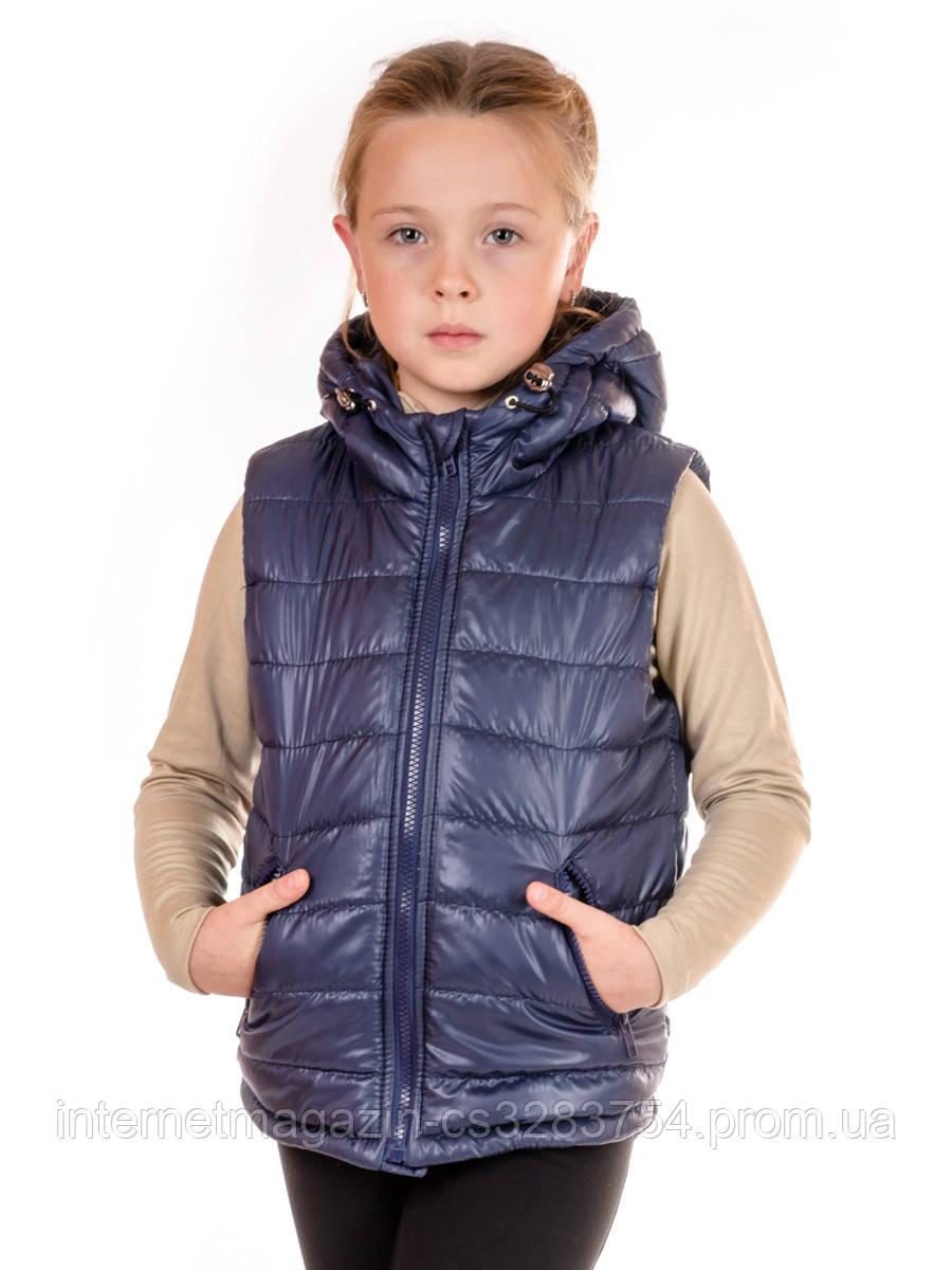 Детский жилет с капюшоном IRVIC DK802 152 Темно-синий (IrC-DK802-5)
