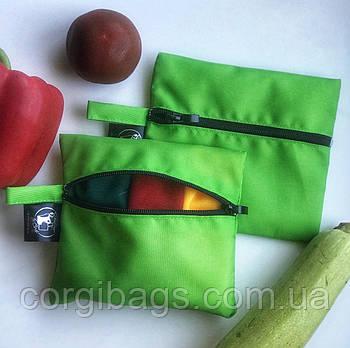 Чехол для эко мешочков, органайзер для многоразовых мешочков из сетки, косметичка для влажных вещей