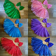 Пышные фатиновые юбки с атласной подкладкой и лентами