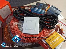 Тонкий кабель Fenix ADSV18680 ( 3.8 м2 ) з сенсорним терморегулятором Terneo S (Повний комплект)