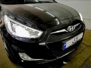 Установка LED ламп Hyundai Accent