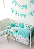 Набор детского постельного белья с подушкой и одеялом - мятного цвета - Baby Mint