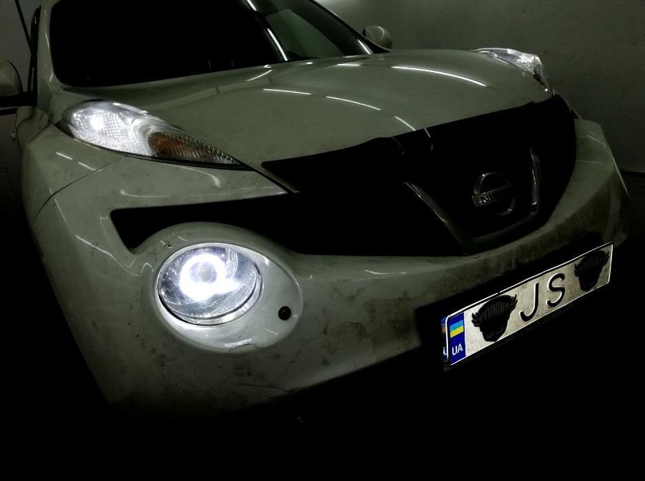 Установка линз Nissan Juke