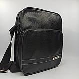 Шкіряна чоловіча сумка через плече / Мужская кожаная сумка через плечо 061-1, фото 2