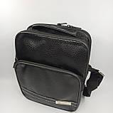 Шкіряна чоловіча сумка через плече / Мужская кожаная сумка через плечо 061-1, фото 3