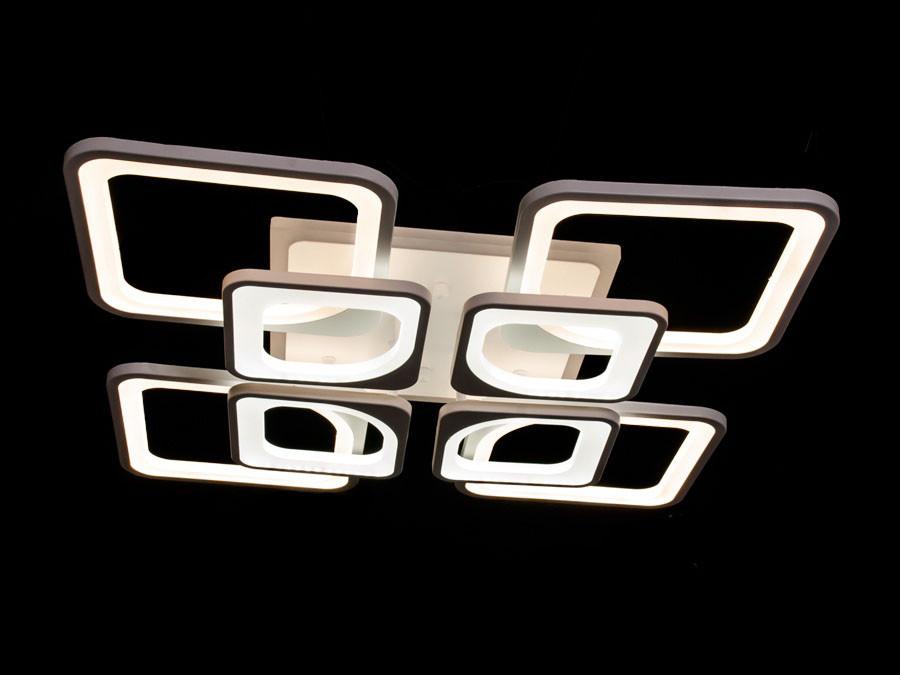 Люстра на потолок ледовская цвет белый 190 ват Диаша&8060/4+4WH LED