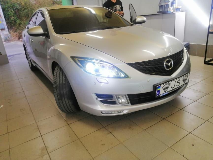 Установка линз Mazda 6