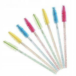 Щеточки для ресниц нейлоновые с блестками, фото 2