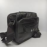 Шкіряна чоловіча сумка через плече / Мужская кожаная сумка через плечо 072-1, фото 2