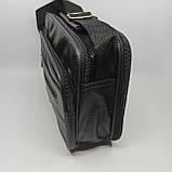 Шкіряна чоловіча сумка через плече / Мужская кожаная сумка через плечо 072-1, фото 4
