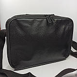 Шкіряна чоловіча сумка через плече / Мужская кожаная сумка через плечо 072-1, фото 6