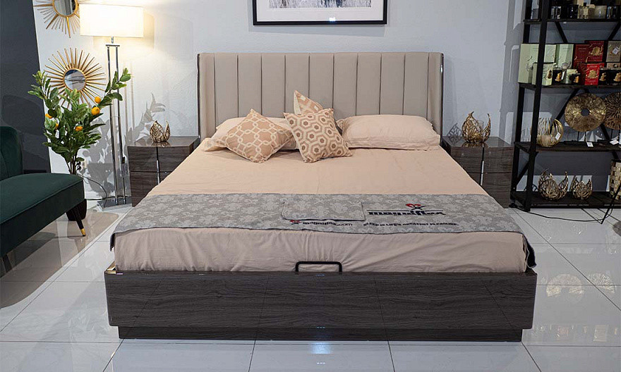 Ліжко Пасадена 1,6 м'яке узголів'я екокожа з підйомним механізмом від Frisco