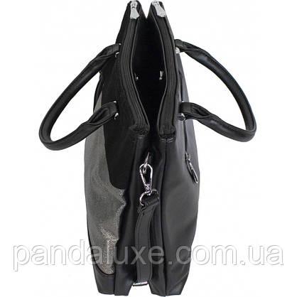 Сумка портфель женская элегантная стильная замшевая со стразами, фото 2