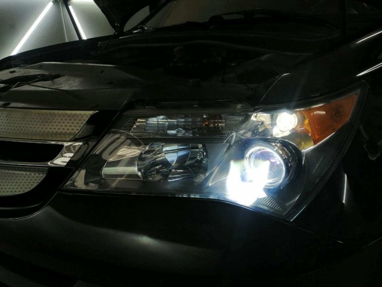 Установка линз Acura MDX