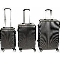 Комплект пластиковых туристических чемоданов на колесах для путешествий № BL-227