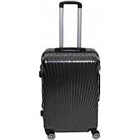 Пластиковый чемодан кейс для путешествий на колесах № BL-227 24 дюйма с кодовым замком