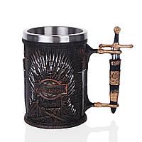Кружка Кинджал Чашка Келих 3D Нержавіюча Сталь Гра Престолів Game Of Thrones, фото 1