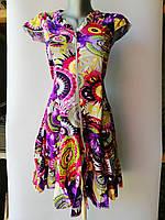Халат платье детское женское на змейке, с рюшками и карманами Хлопок 100% Длина 88 см Размеры S-XL (38-48)