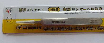 Пінцет радіотехнічний R Deer RST-14, металевий, фото 2