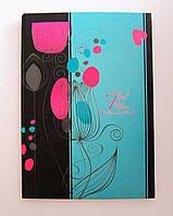Зошит на скобі А4 96 арк., обкладинка картон + УФ-лак, в асортименті, серія «Квіти» ТМ Рюкзачок