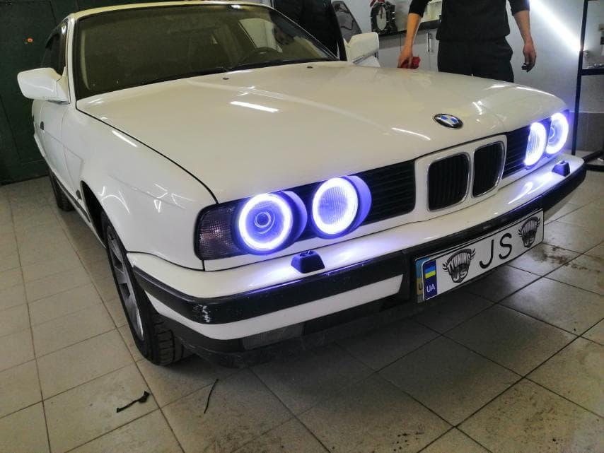 Установка линз BMW E34