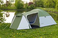 Палатка туристическая 3 местная с тамбуром Presto Monsun 3 зеленая