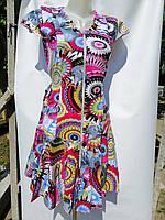 Халат платье детское женское со змейкой, с рюшками и карманами Хлопок 100% Длина 88 см Размеры S-XL (38-48)