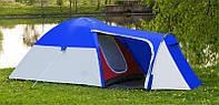 Палатка туристическая 3 местная с тамбуром Presto Monsun 3 синяя