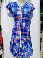 Халат платье детское женское со змейкой, с воланами и карманами Хлопок 100% Длина 88 см Размеры S-XL (38-48)