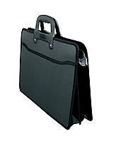 Портфель пластиковий A3 2 відділення, чорний, D1951