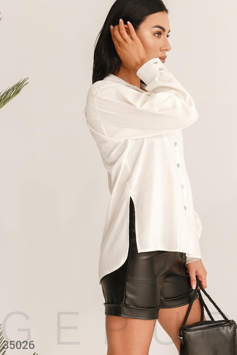 Вільна сорочка біла оверсайз