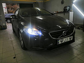 Установка светодиодных ламп Volvo S40
