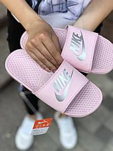 Женские шлепанцы Nike PA193 светло-розовые