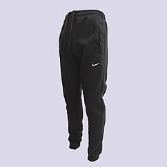 Штаны спортивные мужские с начёсом разные бренды и размеры 46-54 чёрные с манжетом  МТ-140113