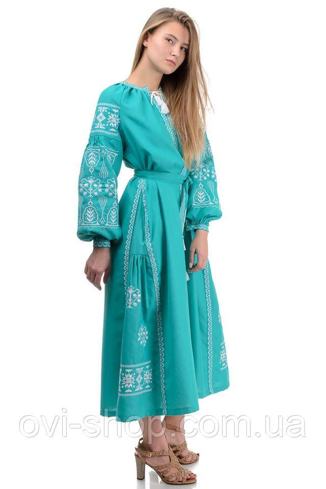 Платье вышиванка макси