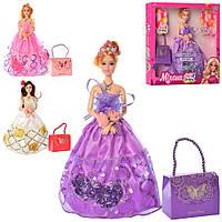 Лялька 30 см, шарнірна з сумочкою, в асортименті, в коробці 32,5х33х5 см