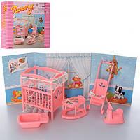 Меблі «Дитяча кімната» ліжко, ходунки, коляска, ванночка, в коробці 21х18х5 см