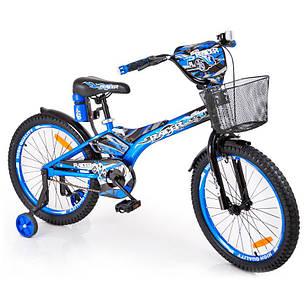 """Велосипед дитячий Racer 20"""" з кошиком і пляшкою для води, фото 2"""