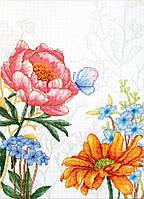 Набор для вышивания нитками LUCA-S Цветы и бабочкa (BU4019)